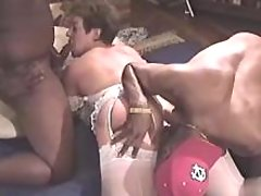 Fat mature sucks cock and licked