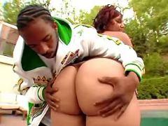 Booty ebony BBW spoils black friend