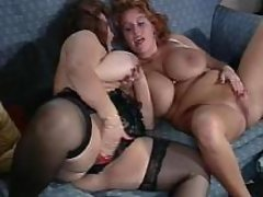 Depraved busty women in crazy orgy