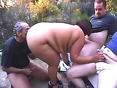 Guys share hot megafat lady outdoor