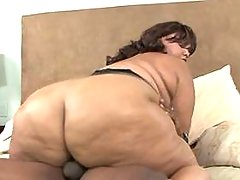 Fat ebony vixen gets cumload on ass