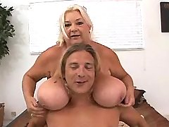 Guy plays w melons boobs of mature