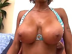 Chesty ebony mature seduces youth