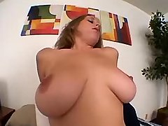 Sexy busty hottie jumps on big dick