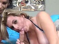 Busty girls get titsfuck by turns