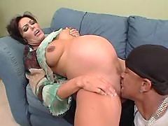 Pregnant mature licked and sucks