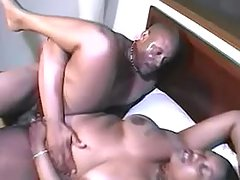 Black chabby slut fucking with dude