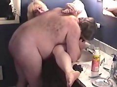 Steamy fatty slobbers her boyfriend